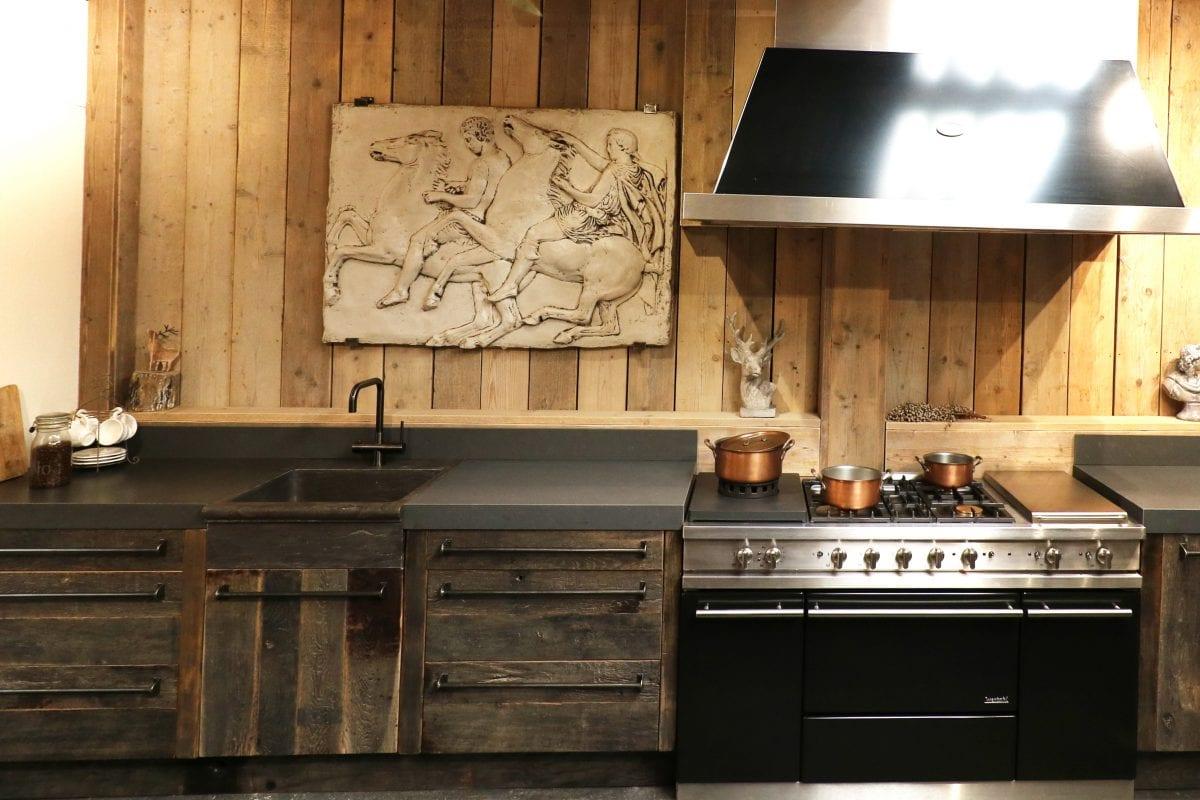 industriele keuken historisch hout
